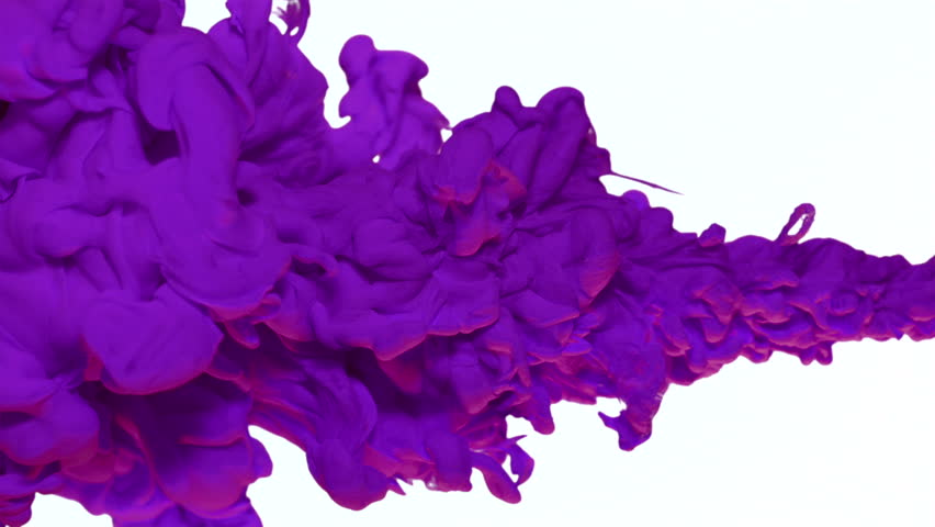 Purple ink in water shooting with high speed camera, phantom flex.