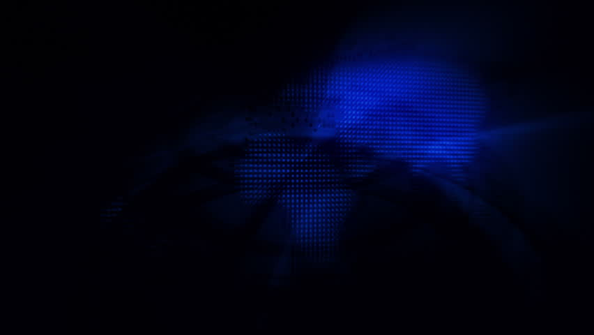 Fancy Light Effects In A Dark Background Stock Footage: Special Effects Background Blooming Dark Blue Lights Stock