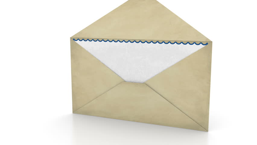 Opening Envelope - Mail Concept Stock Footage Video