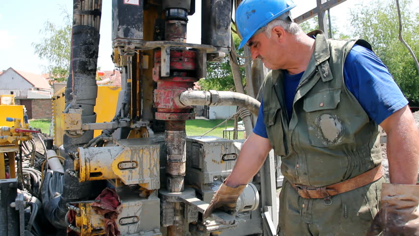 Construction Worker Looks At The Camera. Stock Footage ...  Construction Wo...
