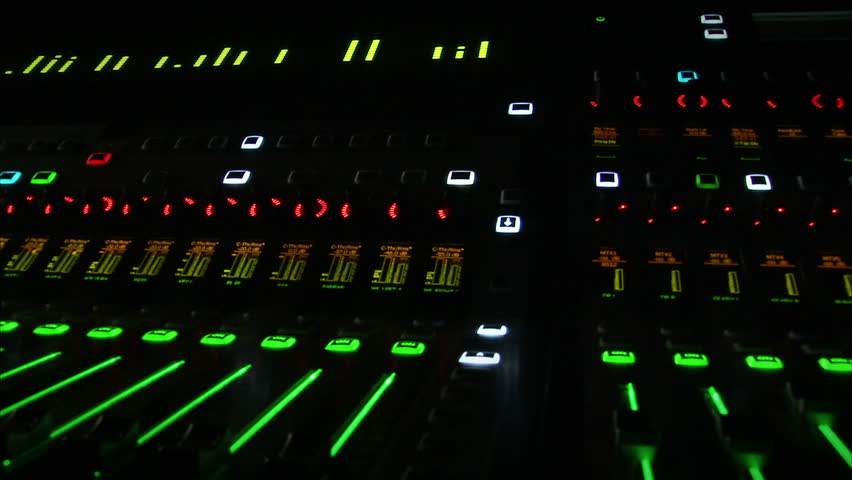 Sound mixer. - HD stock footage clip