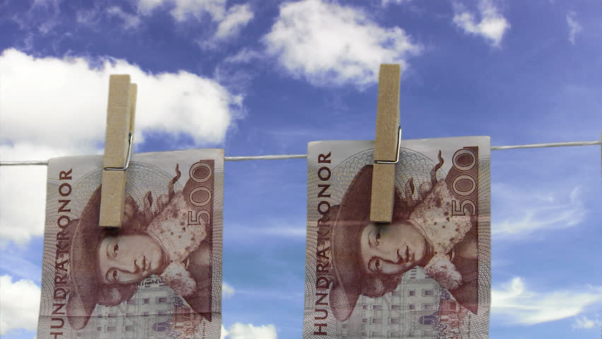 Banknotes hanging in a clothes line. - HD stock video clip