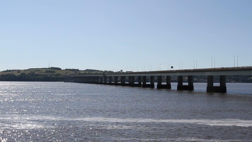 Tay Road Bridge Dundee Scotland - HD stock video clip