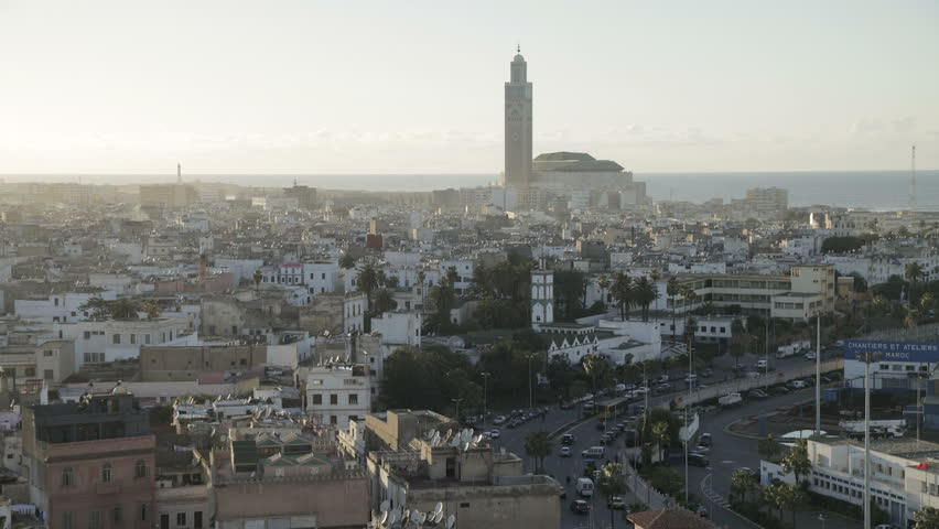 CASABLANCA, MOROCCO - CIRCA MAY 2011: Hassan II Mosque, the third largest mosque in the world, Casablanca, Morocco, North Africa.