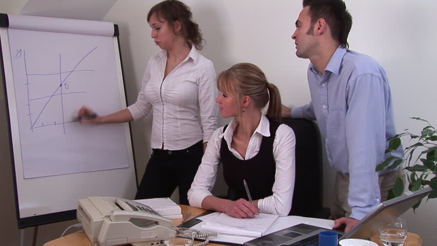 Young Adult Professional Temawork from a Office Workers - HD stock footage clip