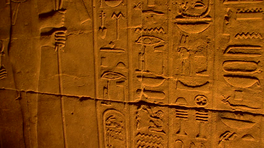 Ancient hieroglyphs, Egypt - HD stock footage clip