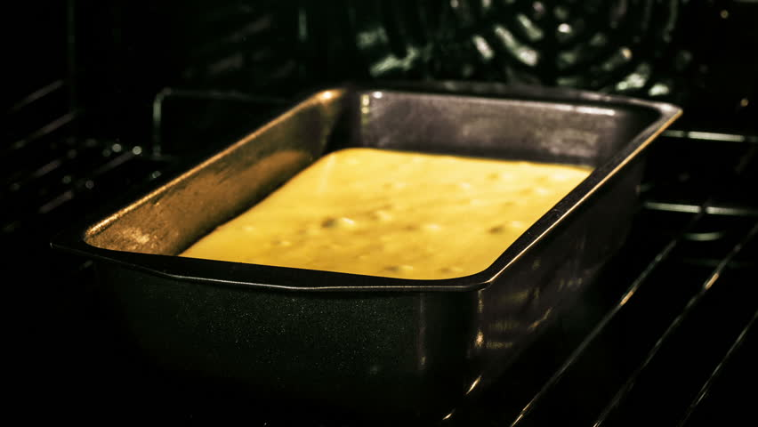 ... Madeira Cake Baking Time-lapse - HD stock footage clip