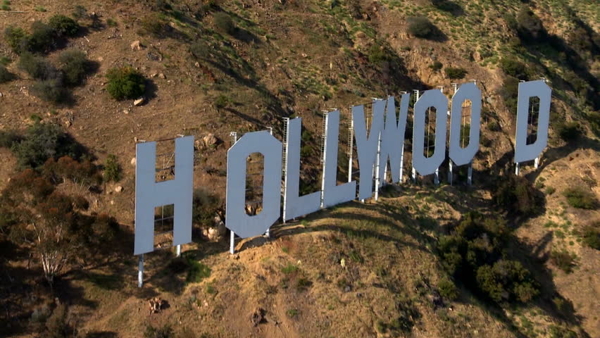 LOS ANGELES - CIRCA MAY 2012: Aerial of the Hollywood Sign - Los Angeles California - Circa May 2012
