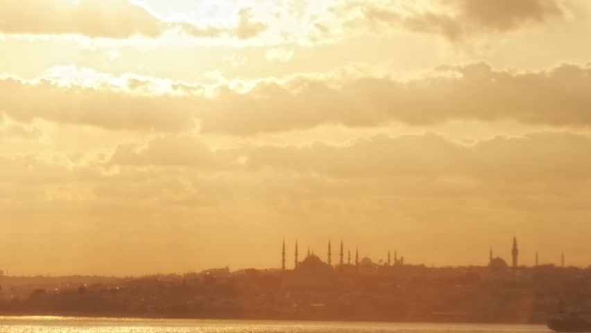 istanbul time lapse sunset