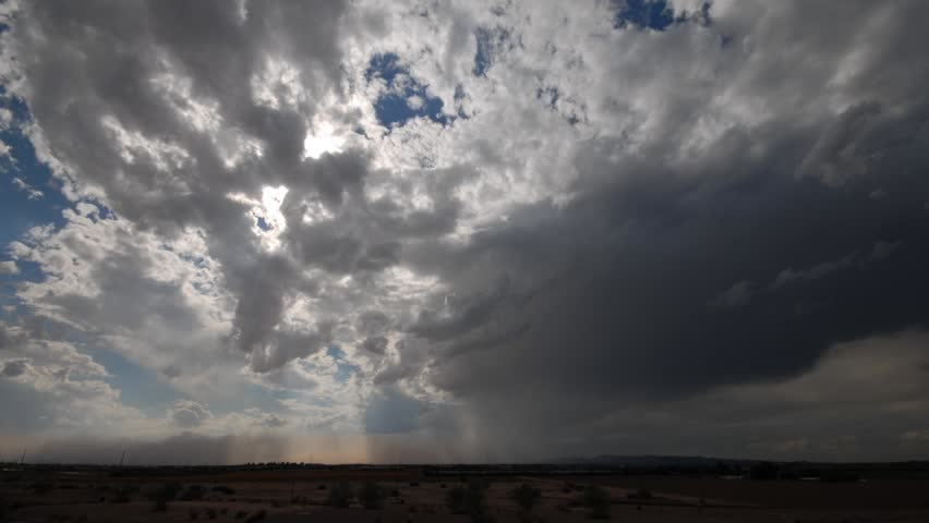 Time lapse of sever thunderstorm in the southeast valley of Phoenix Arizona