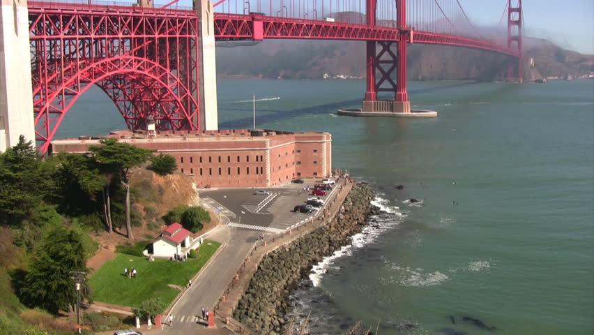 Golden Gate Bridge 06 - HD stock footage clip
