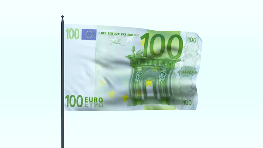 Euro Flag Waving, Seamless Loop - HD stock video clip