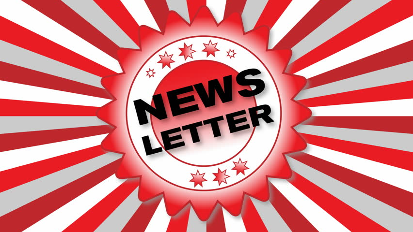 Animated Button – News Letter - HD stock footage clip