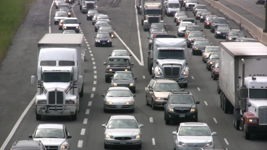 Toronto: 2012 The Busiest Highway In North America, Known As The King's Highway 401 And Also The Macdonald–Cartier Freeway, Has Up To 500,000 Vehicles Daily In Peek Times. Toronto 2012 - HD stock footage clip
