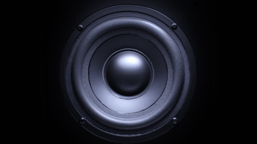 Thumping Bass Audio Speaker Stock Footage Video 2921869 ...