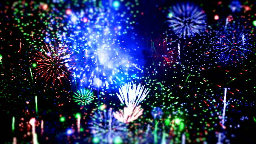 """Happy New Year different animation ( Series 6 - Version from 1 to 5 ) + [ built-in flash red and blue fireworks ] + """" You can find every week new Footage """"+"""" Have a look at the other Footage series """""""