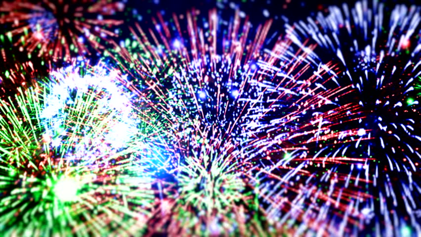 "Happy New Year different animation ( Series 6 - Version from 1 to 5 ) + [ built-in flash red and blue fireworks ] + "" You can find every week new Footage ""+"" Have a look at the other Footage series """