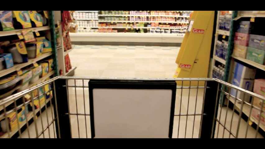 LAKEWOOD, CA - JUNE 1: Timelapse Stop Motion Clip of Grocery Shopping in Lakewood, California June 1 2010