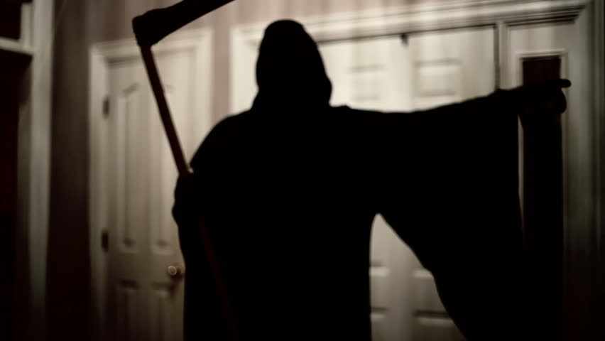 Grim reaper or angel of death - HD stock footage clip