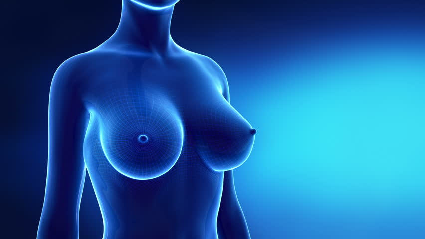 Bigger breast in time lapse in x-ray look