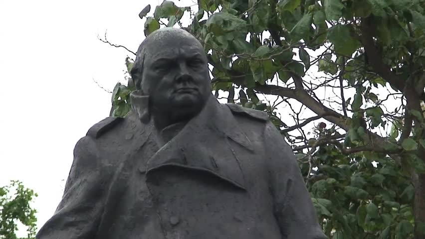 LONDON, UK - CIRCA 2011: Close up of the top of the Winston Churchill Statue in London's Parliament Square