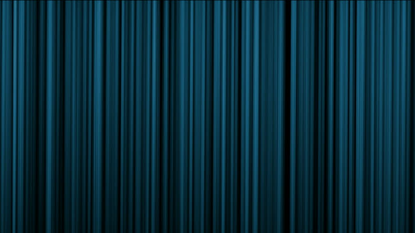 Blue stage curtain theater curtain vertical lines background stock