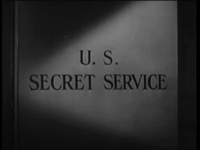 Close-up of door labeled U.S. Secret Service