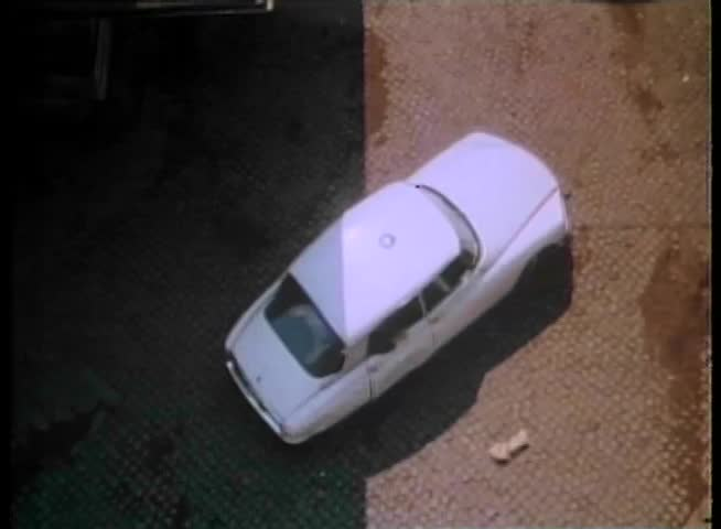 High angle view of car explosion