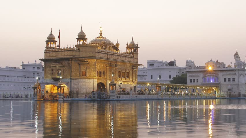 Time Lapse of Golden Temple at night in Amritsar, Punjab, India. 