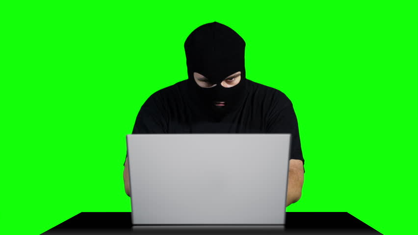 Hacker Working Table Being Attacked Greenscren 6  Footage was shot against green screen and is keyed out. The bg is pure green removing it is easy Green spills are removed