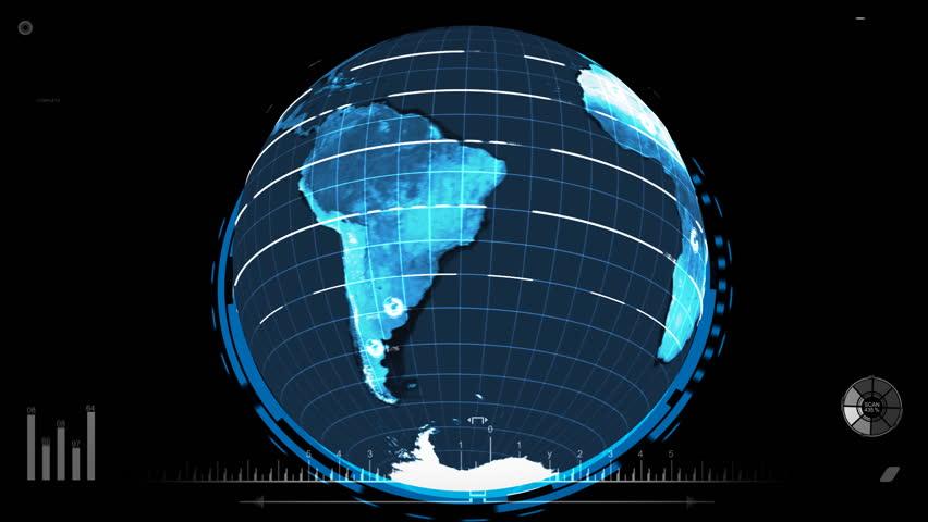 Futuristic Earth Scan