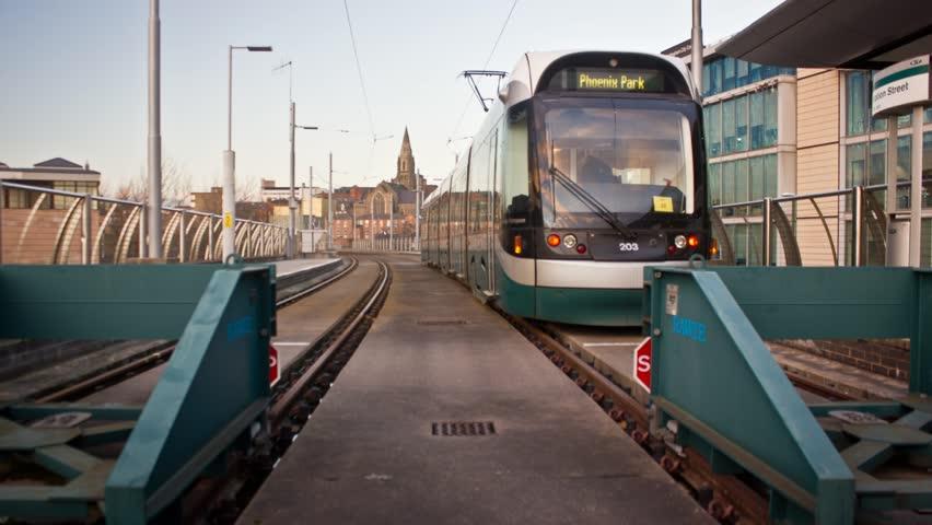 Tram Station Terminus Timelapse
