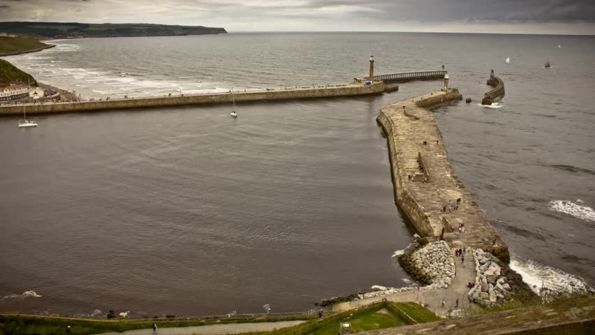 Whitby Harbour Mouth Timelapse