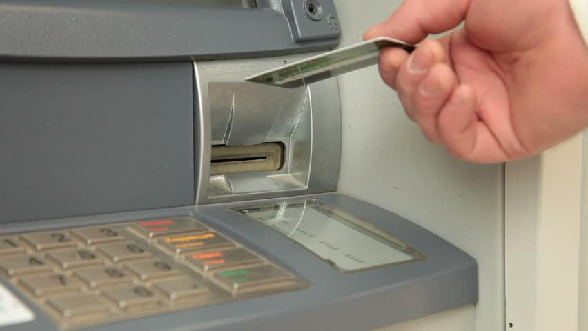 Businessman Using ATM Machine - HD stock video clip