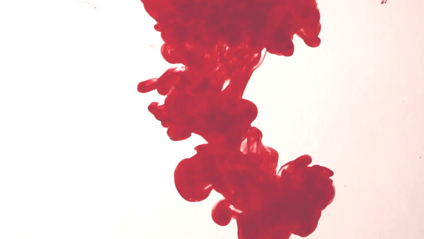 Red ink in water. Abstract