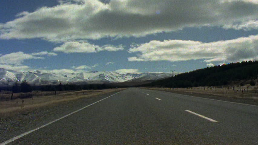 Timelapse of road to Mount Cook National Park