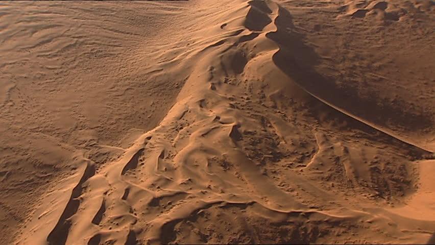 Aerial Of Desert Sand Dunes Stock Footage Video 3559949 ...
