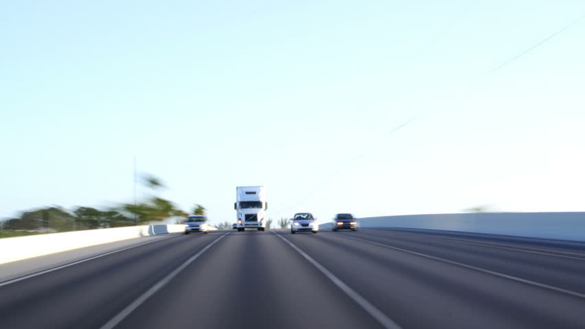 Traffic: Semi Truck - HD stock footage clip