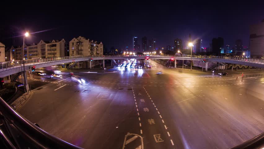 High Impact Traffic in Shanghai, China. Photo Sequence from DSLR camera and Post production in After Effects