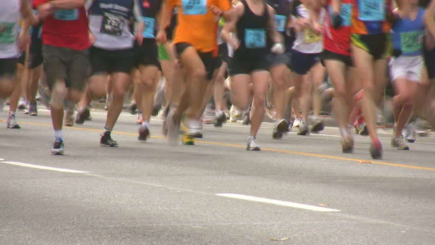 runners - HD stock footage clip
