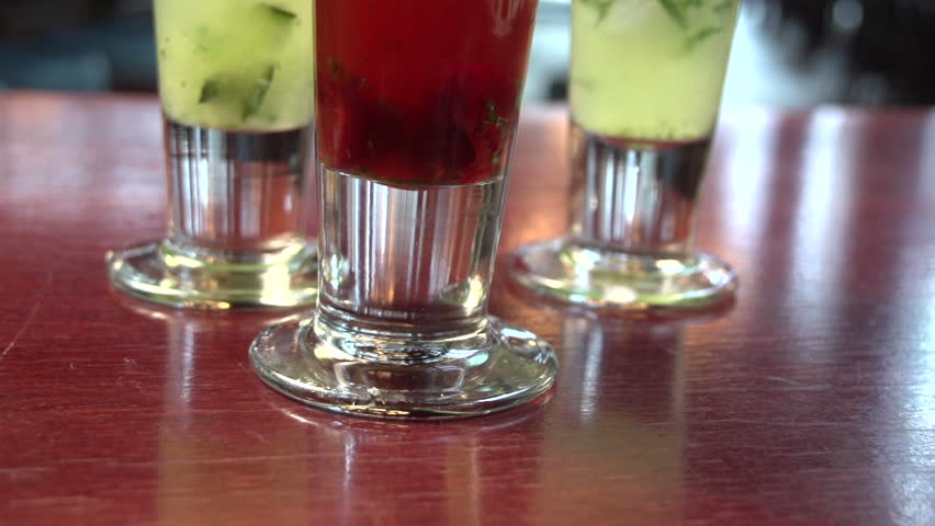 Variety of beauty shots of cocktails