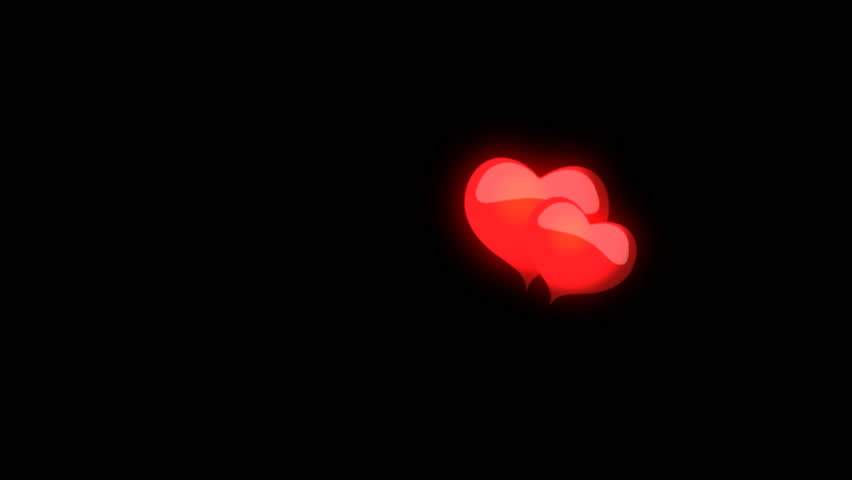Animated Red Hearts On A Black Background Stock Footage ...