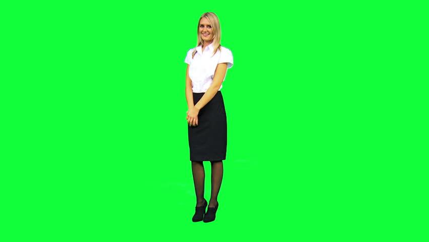 Pics photos uniform background green screen using wireless tablet
