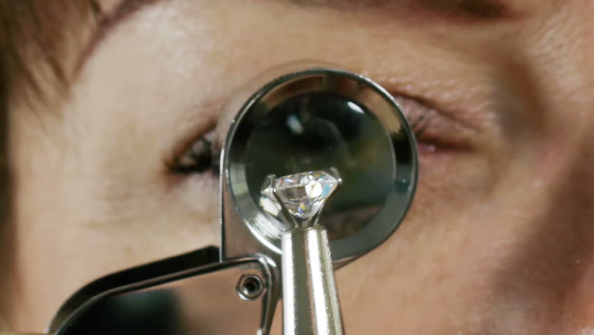 Grabbing Clear Diamond For Inspection sequence