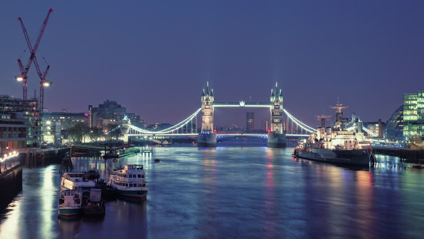 Tower Bridge, Time lapse, Thames 1080p, timelapse 1920x1080, hdv