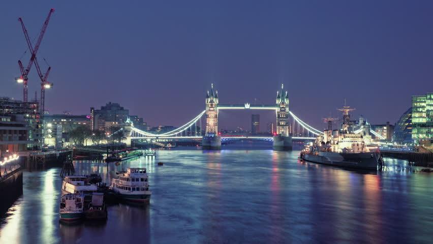 Tower Bridge, Time lapse, Thames 1080p, timelapse 1920x1080, hdv