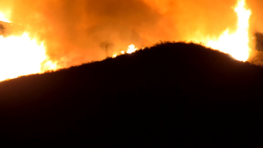 Southern California Fires at Night