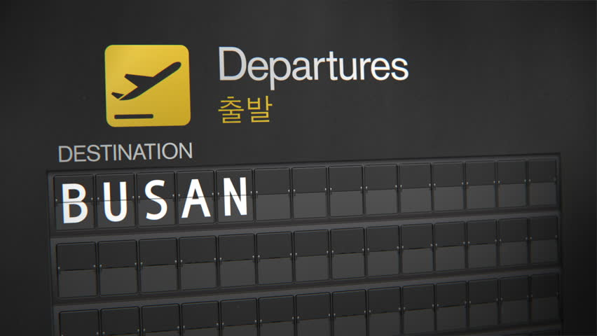 Departures Flip Sign: Asian cities - Busan