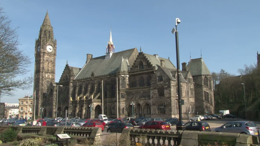 Rochdale Town Hall in Greater Manchester.