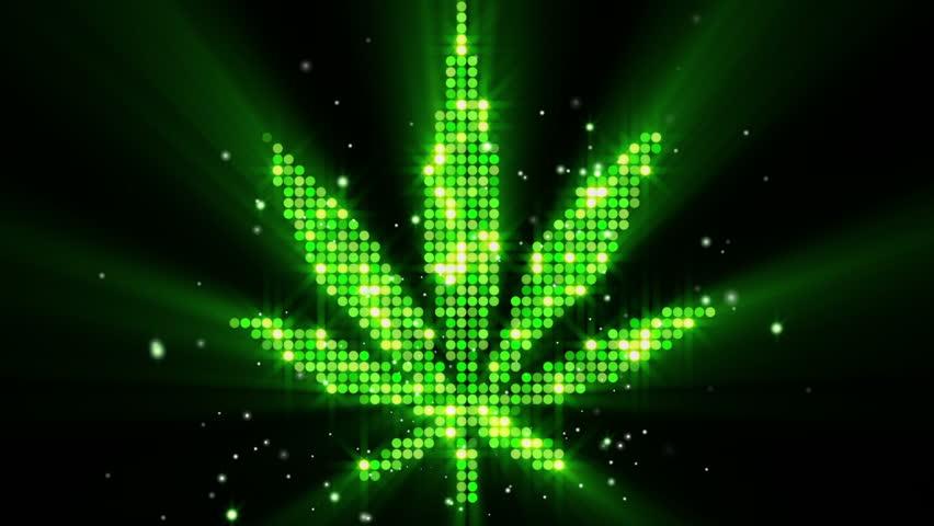 cannabis leaf shape last 10s loop